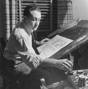 Will Eisner in seinem Studio