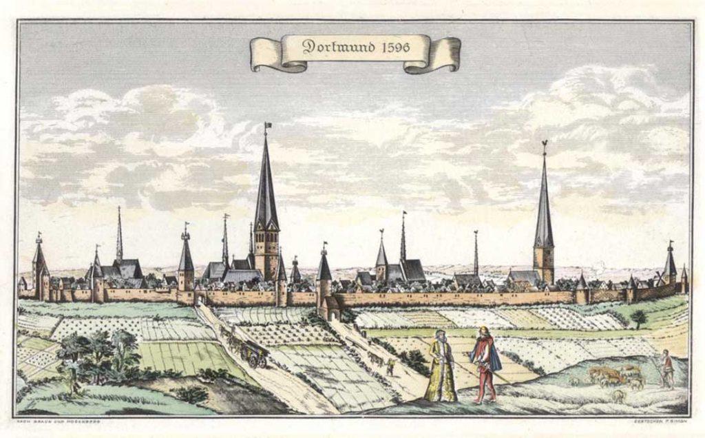 Ansicht Dortmunds von Norden, 1596