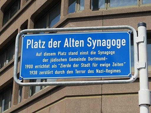 Dortmund_Straßenschild Platz der Alten Synagoge