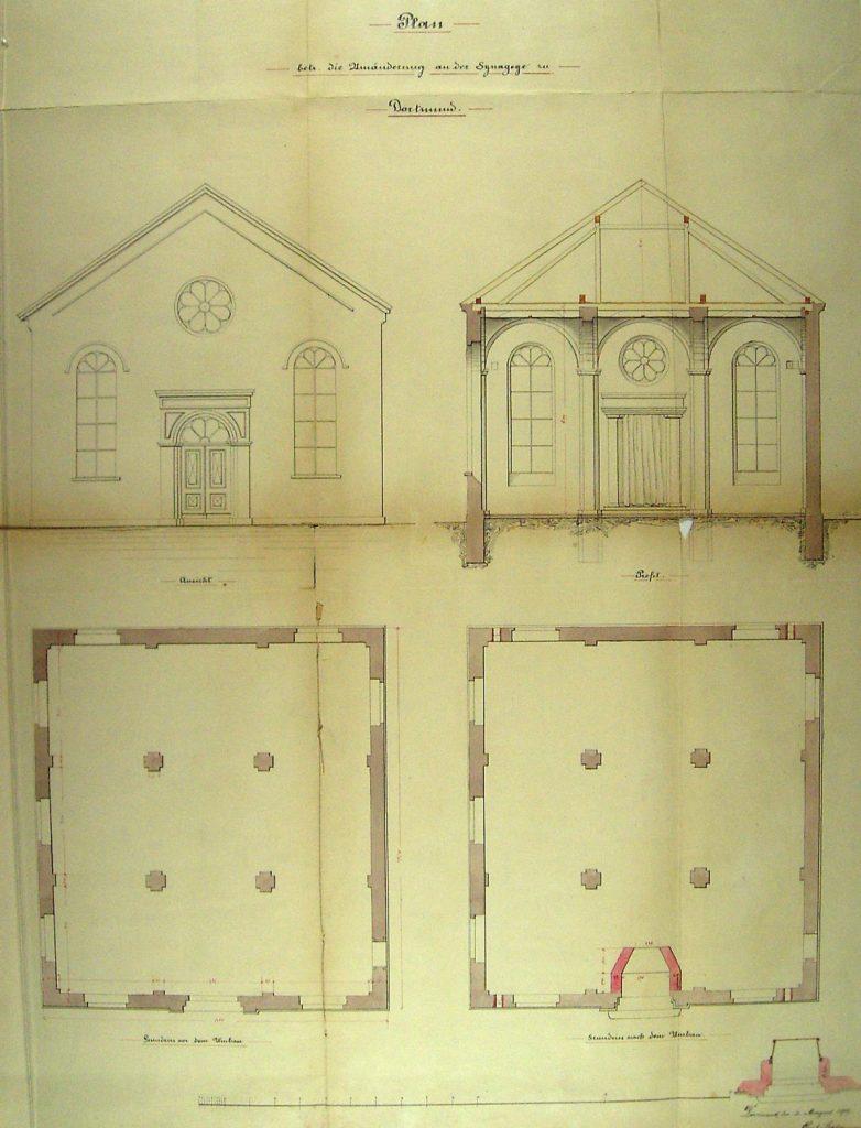Plan der Synagoge Am Wuestenhof