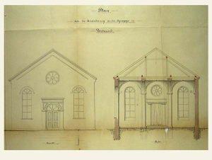Plan der Synagoge