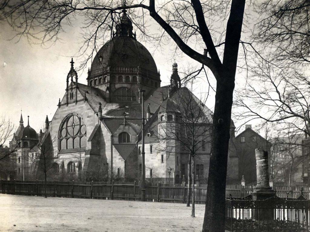 Synagoge-um-1900 Fotografie