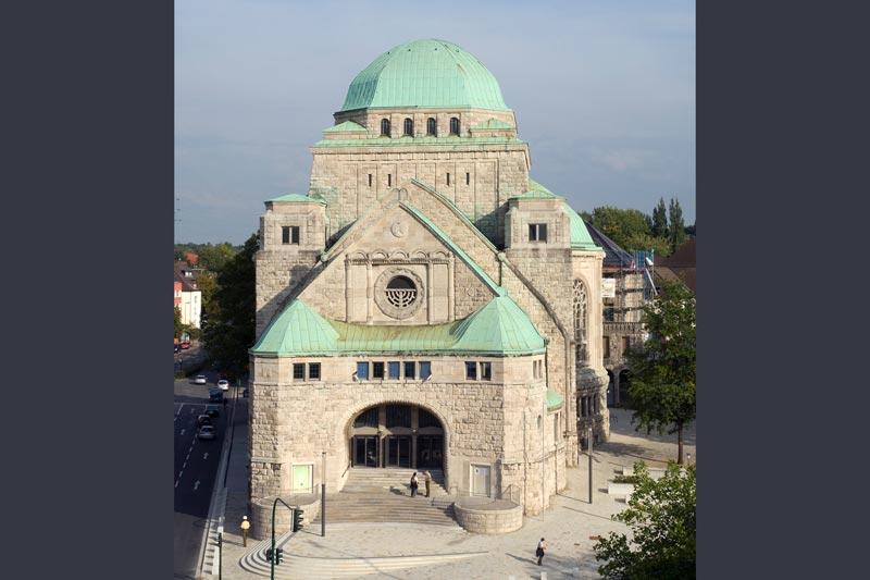 Blick auf die alte Synagoge in Essen