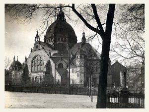 neue Synagoge schwarz/weiss Fotografie