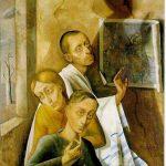 Gemälde Nussbaum Dreiergruppe